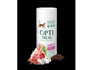 Optimeal для чувствительного пищеварения с ягненком для взрослых кошек 650 гр