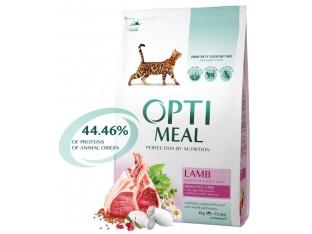 Optimeal для чувствительного пищеварения с ягненком для взрослых кошек 4 кг