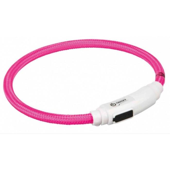 Ошейник светящийся USB для кошек 35см Trixie 41942
