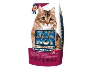 Пан Кот Говядина корм для кошек, живущих в помещении 10 кг