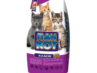 Пан Кот Классик корм для котят 10 кг