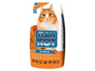 Пан Кот Курица корм для взрослых кошек 10 кг