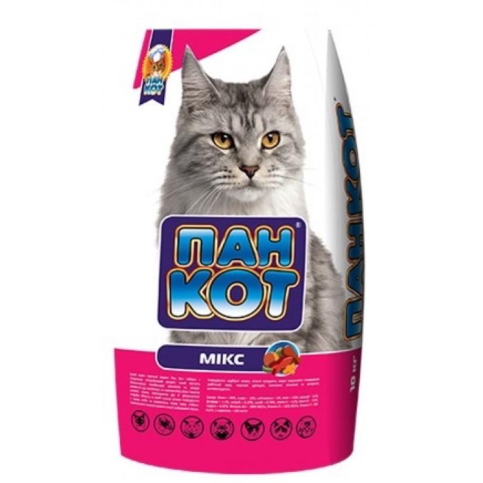 Пан Кот Микс корм для взрослых кошек 10 кг