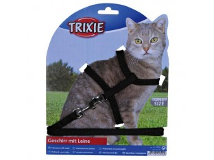 Шлейка с поводком для кошек 22-40см/1,25м Trixie 4185