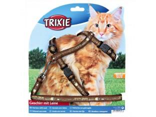 Шлейка с поводком для крупных кошек 34-57см/1,2м Trixie 41893