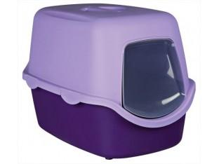Туалет для кошек закрытый с дверцей Vico Trixie 40274 фиолет./лиловый
