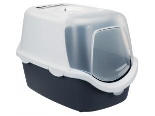 Туалет для кошек закрытый с совком Vico Open Top Trixie 40341 серый/белый