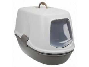 Туалет-домик для кошек с сеткой Berto Top 39x42x59см Trixie 40162 серо-коричневый