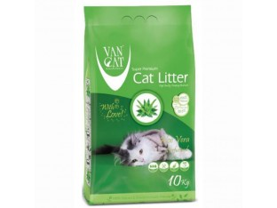 VanCat Aloe Vera (ВанКэт) бентонитовый наполнитель для туалета кошек 10 кг