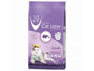 VanCat Lavender (ВанКэт) бентонитовый наполнитель для туалета кошек 10 кг