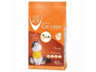 VanCat Orange (ВанКэт) бентонитовый наполнитель для туалета кошек 10 кг