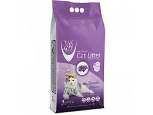 VanCat Lavender (ВанКэт) бентонитовый наполнитель для туалета кошек 5 кг