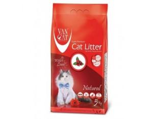 VanCat Natural (ВанКэт) бентонитовый наполнитель для туалета кошек 5 кг
