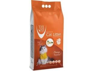 VanCat Orange (ВанКэт) бентонитовый наполнитель для туалета кошек 5 кг