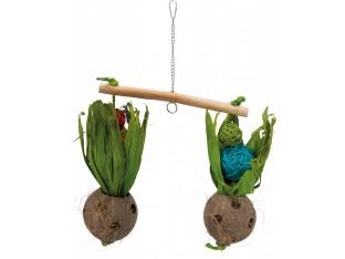 Качели-весы с кокосами для птиц 30х50см Trixie 58921