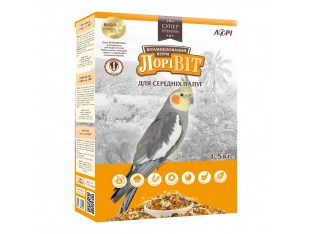Лоривит корм для средних попугаев 1,5 кг