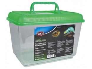 Бокс для транспортировки и кормления рептилий Trixie 76300 19х14х12см