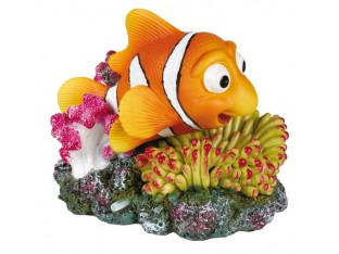 Декорация для аквариума Рыба-клоун на коралле Trixie 8717 12см