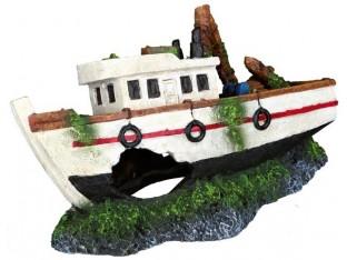 Декорация для аквариума Рыбацкое судно Trixie 87818 15см
