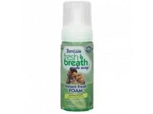 001022 TropiClean Fresh Breath мятная пенка для чистки зубов собак 128мл