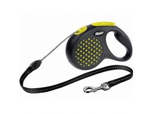 Flexi Design рулетка-поводок для собак 5м/20кг трос желтый