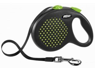 Flexi Design рулетка-поводок для собак 5м/50кг лента зеленый