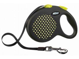 Flexi Design рулетка-поводок для собак 5м/50кг лента желтый