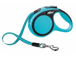 Flexi New Comfort рулетка-поводок для собак 3м/12кг лента синяя