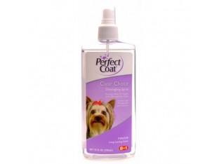 8in1 Perfect Coat Clear Choice Detangling Spray спрей для облегчения расчесывания