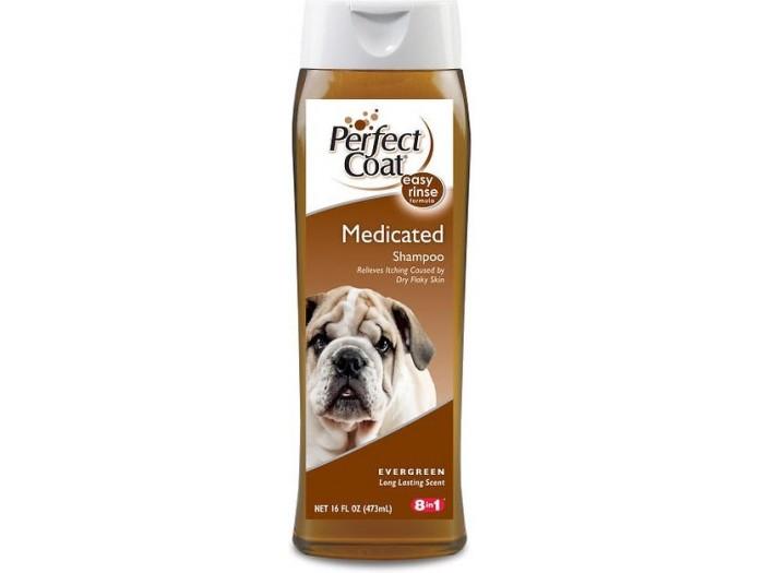 8in1 Perfect Coat Medicated Shampoo шампунь дегтярный для собак