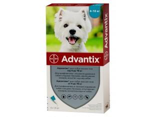 Advantix (Адвантикс) капли для борьбы с эктопаразитами собак Адвантикс 4-10кг