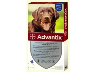Advantix (Адвантикс) капли для борьбы с эктопаразитами собак Адвантикс более 25кг