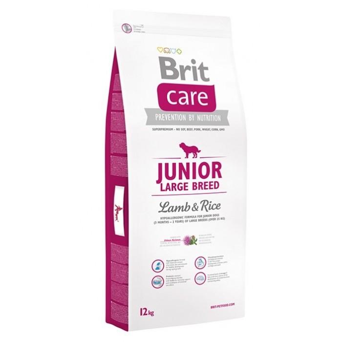 Brit Care Junior Large Breed Lamb & Rice с ягненком для щенков крупных пород 1 кг