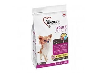 1st Choice (Фест Чойс) Adult Toy and Small с ягненком и рыбой для взрослых собак мини и мелких пород 2,72 кг
