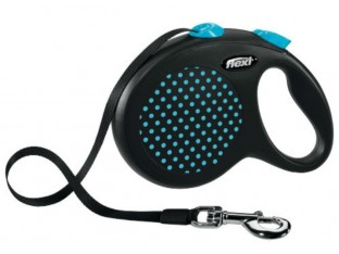 Flexi Design рулетка-поводок для собак 5м/50кг лента синий