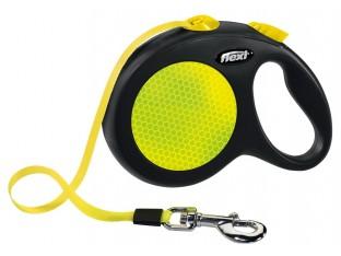 Flexi Neon рулетка-поводок для собак 5м/50кг лента
