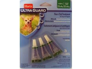 Hartz (Харц) Ultra Guard капли от блох и клещей для собак и щенков Хартц 2,5-6кг