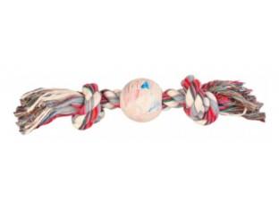 Игрушка для собак Верёвка узловая с мячом 7см/36см Trixie 3267