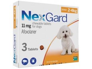 NexGard (Нексгард) таблетки от блох и клещей для собак весом 2-4кг 1уп/3тб