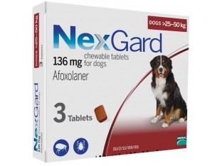 NexGard (Нексгард) таблетки от блох и клещей для собак весом 25-50кг 1уп/3тб