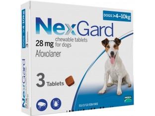NexGard (Нексгард) таблетки от блох и клещей для собак весом 4-10кг 1тб