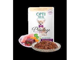 Optimeal беззерновой влажный корм для собак мелких пород с индейкой и печенью 85гр