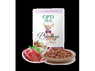 Optimeal беззерновой влажный корм для собак мелких пород с ягненком и шпинатом 85гр