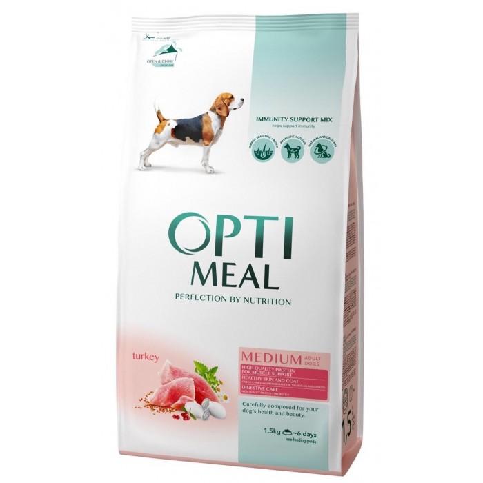 Optimeal с индейкой для собак средних пород 1,5 кг + 1,5 кг в подарок