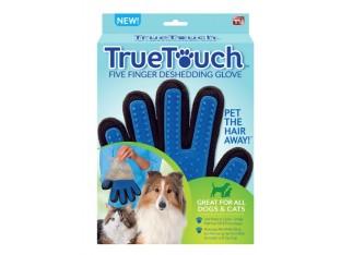Перчатка для вычесывания шерсти у собак True Touch