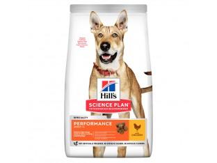 Hills Science Plan Adult Performance корм для рабочих, активных, охотничьих собак с курицей 14 кг