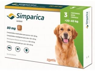 Simparica (Симпарика) таблетки от блох и клещей для собак весом 20-40кг 1 тб