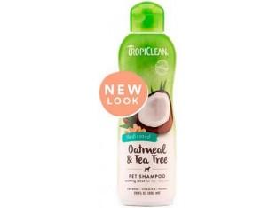 TropiClean Oatmeal-Tee Tree шампунь лечебный для собак 355 мл